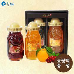탐라 하르방 600g 2종세트 (한라봉차 + 오미자차) + 쇼핑백