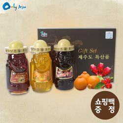 탐라 하르방 600g 3종세트 (한라봉+오미자+선인장)+쇼핑백