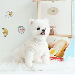 패리스독 강아지옷 패리스프렌즈 후리스 화이트