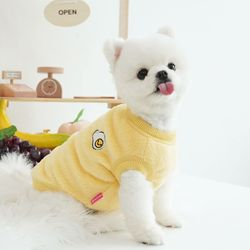 패리스독 강아지옷 패리스프렌즈 후리스 옐로우