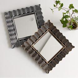 2TYPE 미니 사각 거울 - 골드 실버