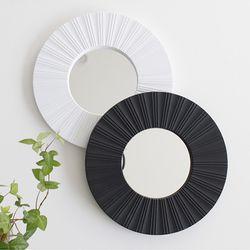 2TYPE 미니 원형 거울- 블랙 화이트