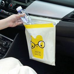자동차 접착 쓰레기봉지 붙이는 쓰레기봉투 4팩 1set