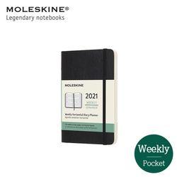 몰스킨 2021 위클리 12M 다이어리(가로형) 소프트 포켓 블랙