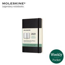 몰스킨 2021 위클리 12M 다이어리 소프트커버 포켓 블랙