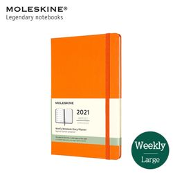 몰스킨 2021 위클리 12M 다이어리 하드커버 라지 카드뮴 오렌지