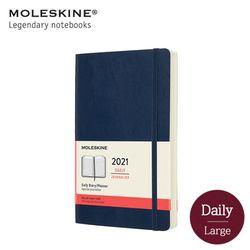 몰스킨 2021 데일리 12M 다이어리 소프트커버 라지 사파이어블루