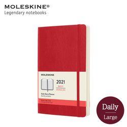 몰스킨 2021 데일리 12M 다이어리 소프트커버 라지 스칼렛레드