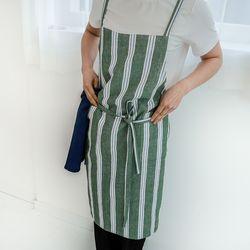 linen stripe apron