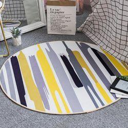 모던스타일 라운드 감성 카펫 (안마의자매트)