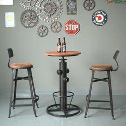 빈티지 무드 홈바 테이블 의자 세트