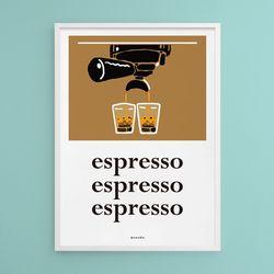 에스프레소 커피 카페 M 유니크 디자인 포스터 A3(중형)