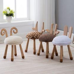 동물친구 어린이 의자 탁자 원목테이블