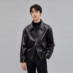 남성 양가죽 봄버 블루종 G-1 싱글 시보리 자켓 Torino