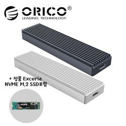 오리코본사 M2PJ-C3 NVMe M.2케이스+SSD 255GB 포함