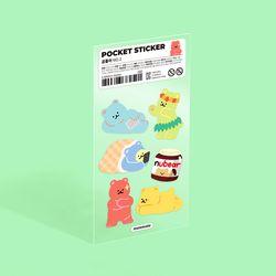 포켓 스티커 - 곰돌이 (no.2)