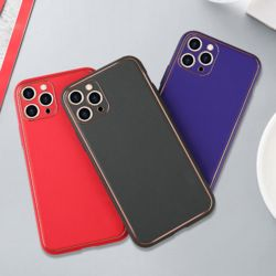 아이폰11 PRO MAX 카메라 보호 컬러 가죽 폰케이스