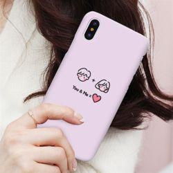 커플 드로잉 슬림 하드 케이스 갤럭시 노트 s 아이폰