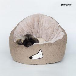 퀸즈방석 (브라운) 강아지방석 고양이방석집 고양이숨집