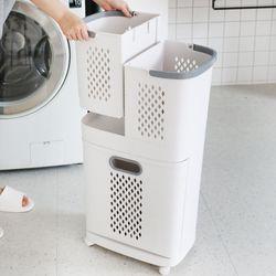 드마망 시스템 세탁바구니(2단)