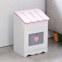 밀키 핑크 지붕수납장 MD020