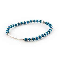 [Silver92.5]SVB - S229 Round Bar Turquoise Bracelet
