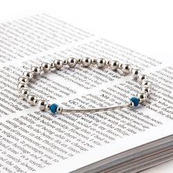 [Silver92.5]SVB - S230 Round Bar Turquoise Bracelet