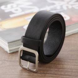 로빈 스퀘어 여성 가죽벨트(블랙) (100cm)