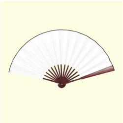 다홍 대나무 접이식 부채(다크브라운)