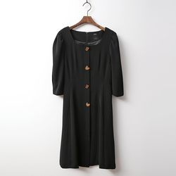 Elena Puff Fit N Flare Dress