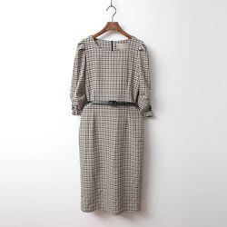Sofia Check Dress - 벨트포함