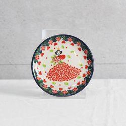 폴란드그릇 아티스티나 핸드메이드 원형접시 10cm 패턴2520