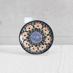 폴란드그릇 아티스티나 핸드메이드 원형접시 10cm 패턴1214