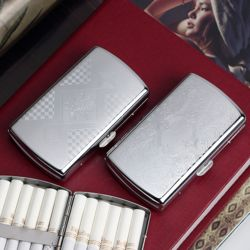 12개비 콤팩트 실버 담배케이스