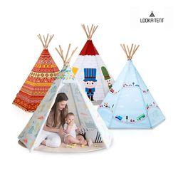 루카 유아 어린이 인디언 텐트 14종 모음 (LED+루카매트)