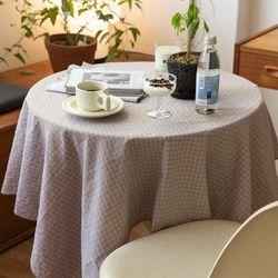 온더버터플라이체크 식탁보 테이블보 120x120cm