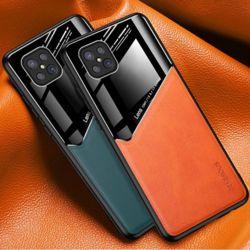 아이폰11 PROMAX XR X 하프 가죽 강화유리 하드케이스