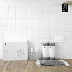 [생활공작소] 주방용품 선물세트(고무장갑2+수세미2+주방세제2)