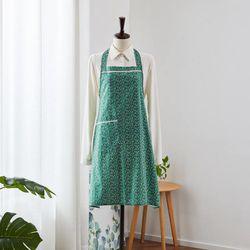 L 겨울, 제주동백 초록 앞치마+가방 세트