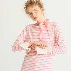 Stripe Cuffs T Pink