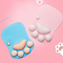 손목쿠션 동물발바닥 마우스손목받침대 마우스패드