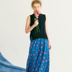 Maxi Flare Skirt Blue