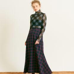 Maxi Flare Skirt Navy