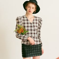 Hound Check Mini Skirt Black