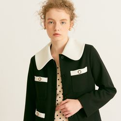Button Point Classic Jacket Black