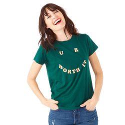 밴도 U R WORTH IT 티셔츠 - EVERGREEN
