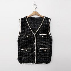 N.Tweed Knit Vest