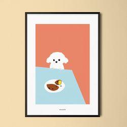 솜뭉치와 고구마 강아지 M 유니크 디자인 포스터 A3(중형)