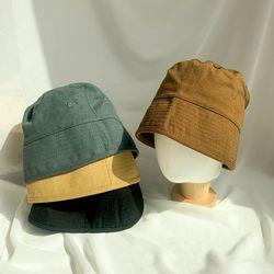 남여공용 코튼 베이직 스퀘어 버킷햇 모자