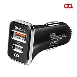 오아 퀵차지 3.0 USB PD 차량용 듀얼 소켓 고속 충전기 시거잭